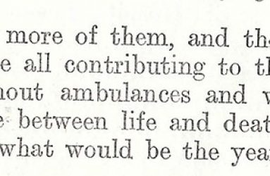 extract from annual report describing need for well equipped wards