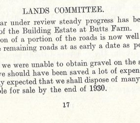 construction of roads