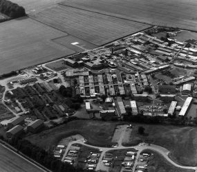Aerial view of Odstock Hospital mid-late 1980s