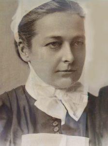 Edith Joanna Bonham Carter in nursing uniform