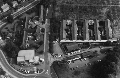 aerial view of Newbridge Hospital