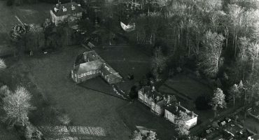 Aerial view of Harnwood Hospital site
