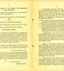 Book entry detailing Earl of Radnor's involvement in building of Salisbury Infirmary