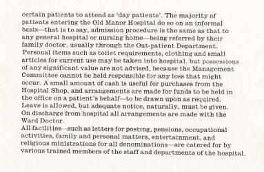 Written description of hospital