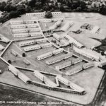 Aerial view of Common Cold Unit buildings