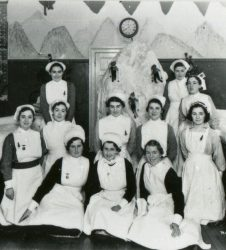 Nurses posing for photograph