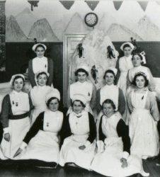 Nurses posing for photograph