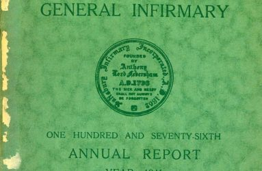 Green cover for 1941 hospital Annual Report