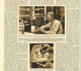 Newspaper article with images of Common Cold Unit research