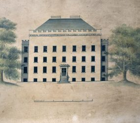 Drawing of the Salisbury General Infirmary, 1771