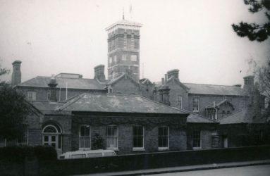 Harnham Hospital buildings viewed from road