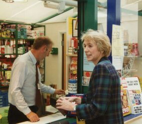Virginia Bottomley at the League shop