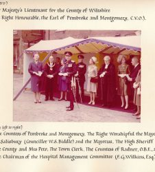 Countess of Radnor pictured with Mayor of Salisbury and other dignitaries