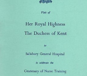 Blue programme cover for visit on 11th November, 1970