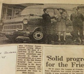 Newspaper article about the League of Friends
