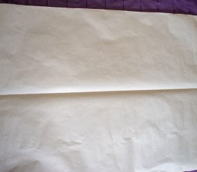 large sheet of paper folder in half
