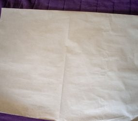sheet folded in half again