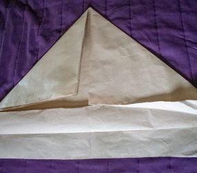 fold bottom edge top flap up