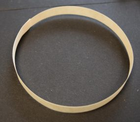 large circle made from strip of paper