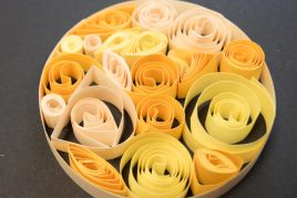Microscope slide quilling
