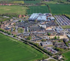 Salisbury District Hospital site aerial view