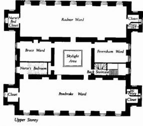 floor plan showing wards