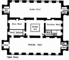 floor plan showing wards