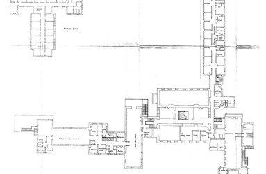Floorplan of 2nd floor showing Ethel Woodrow ward