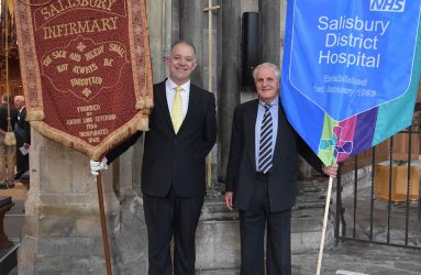 Old and new hospital banners