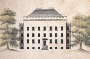 Drawing of Infirmary after conservation