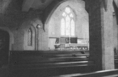 Altar viewed from the pews