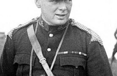 Winston Churchill pictured in military uniform