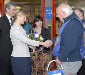 Countess of Wessex shaking hands with Stars Appeal collectors