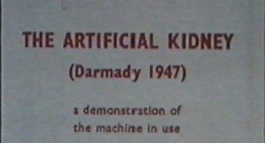 Title still taken from Darmady's film The Artificial Kidney