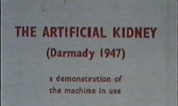 Title still taken from Darmady's film The Artificial Kidney