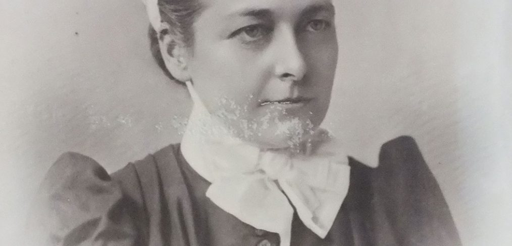 Edith in nurse uniform