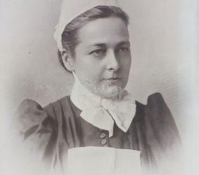 Edith in nurse uniform