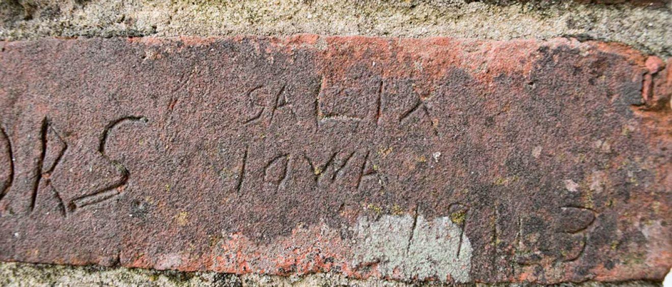 scratched words SALIA, IOWA, 1943