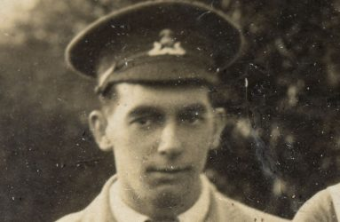 Soldier with cap badge visible