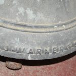 J Warner & Sons cast on rim of bell