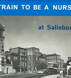 Front cover of leaflet with photo of Salisbury Infirmary, Fisherton Street