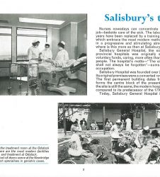 Nurses pictured on the ward with accompanying text