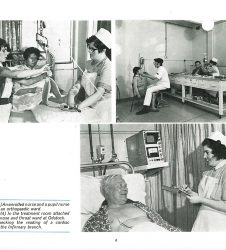 Nurses pictured treating patients