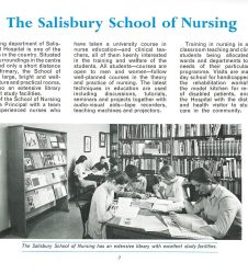 Nursing students pictured in the library with accompanying text