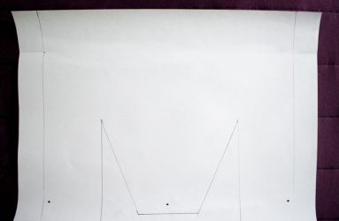 template traced onto A3 paper