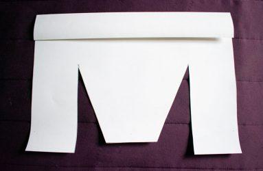 top edge folded down
