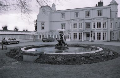 Fountain in front of Old Manor Hospital