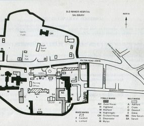 map of layout of Old Manor Hospital site