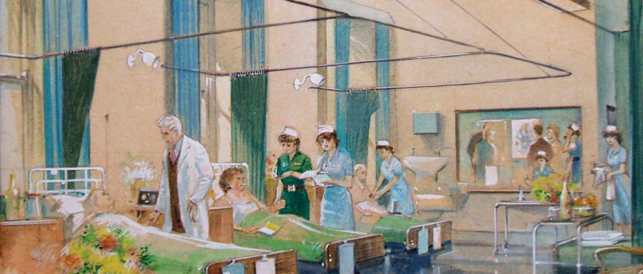 Nursing and doctors at patients' bedsides