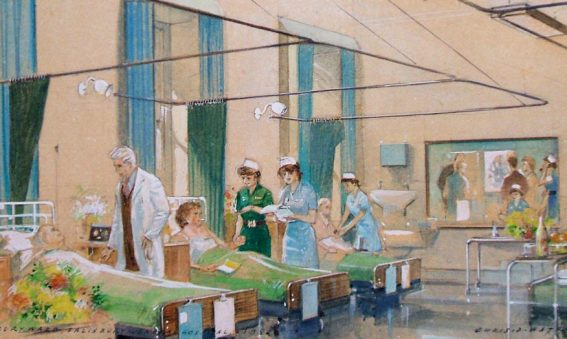 Nursing and doctors at patients' bedsides